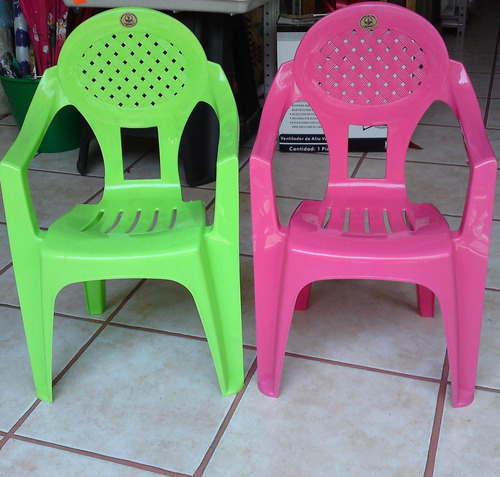 Sillas de plastico infantil en colores ni os de 2 a 8 a os for Sillas de plastico precio