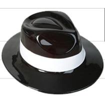 5 Sombreros Gangster Michael Jackson Negro Con Blanco