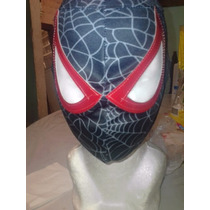 Mascara De Spiderman Black P/niño Hombre Araña Negro.