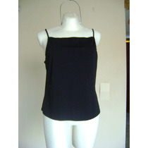 Ny & Co T-xl Blusa Top Negra De Tirantes! Bl727