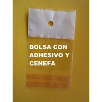 Bolsa De Celofan Con Adhesivo Y Cenefa Ciento