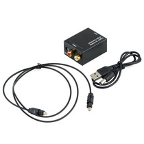 Convertidor Audio Digital Toslink Optico Y Coaxial A Rca L/r