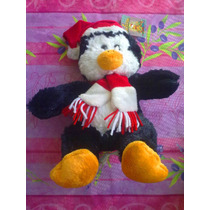 Pinguino De Peluche Vestido De Santa