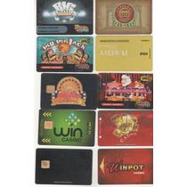 L564-10 Tarjetas De Casino Usadas Sin Credito-