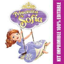 Kit Imprimible 100% Editable Princesita Sofía Powerpoint