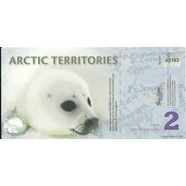 Billete Territorios Del Artico 2 Dolares (2010) Foca
