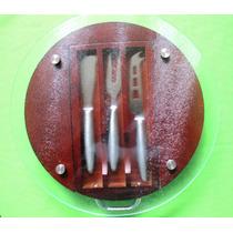 Base Para Quesos Vidrio-madera 3 Piezas Envio Incluido Hm4