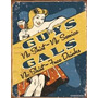 Poster Metalico Litografia Lamina Humor De Bar Vintage Retro