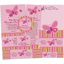 Kit Imprimible Baby Shower Mariposa / Invitaciones/bautizo
