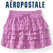 Super Fresa Falda Aeropostale Xs X Chica Nina Dama Rosa Bell