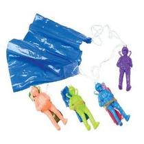 Docena Color Clasificado Juguete Paracaidista Paracaidistas