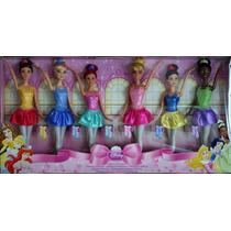 Disney Set De 6 Princesas Bailarinas Envío Gratis