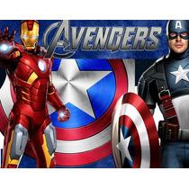 Kit Imprimible Los Vengadores Avengers Diseñá Tarjetas Y Mas