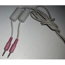 Cable Plug Macho-macho Color Rosa, Con Filtro Para Audio