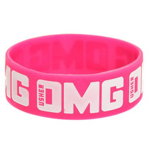 Hot Topic Muñequera Pulsera Usher Omg Pink And White Rubber