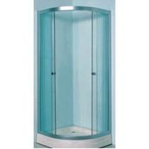Cabina Para Baño En Cristal Templado Y Cancel Aluminio