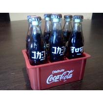 Mini Botellas Coca Cola, Reja Con 6 Botellitas Excelentes !!