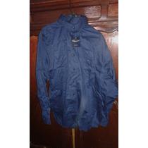 Camisa De Vestir Nueva Marca Duba Azul Marino