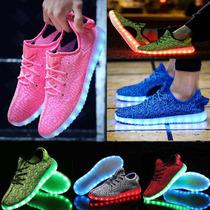 Tenis Luminosos Zapato Luz Led Usb Recargable Unisex Calzado