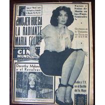 Revista Cine Mundial, María Felix,sarita Montiel
