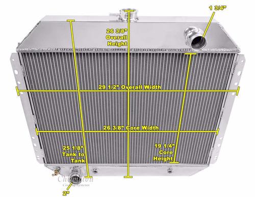 Radiador aluminio ford pick up v8 serie f bronco - Precio radiador aluminio ...