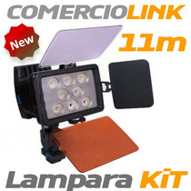 Lampara Video Profesional 8 Leds Alta Potencia Kit.