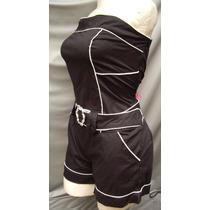 Hotpants Short Top Conjunto Minivestido Straples Moda Actual