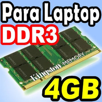 Memoria Sodimm Ddr3 4gb Bus 1600 Y Bus 1333 Para Laptops
