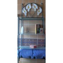 Mueble Organizador Baño, En Herreria Rústica Mod. Alcatraz.