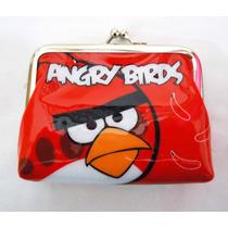 Monederos Angry Birds Anime Kawaii Videojuego Cartera Pluche