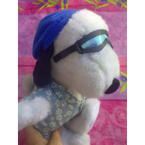 Snoopy Playero Con Lentes De Peluche Marca Applause