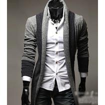 Suéter Largo Hombre Slim Fit Moda Hipster Juvenil Casual