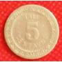 5 Centavos 1911 Moneda De Mexico Porfirio Díaz Mori - Hm4