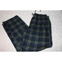Croft & Barrow Pantalon Pijama Caballero Franela Talla L