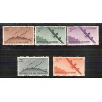 1946 San Marino Temática Aviones Set 5 Sellos Mnh