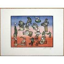 Jose Luis Cuevas 115 Arte Grafica Original Xilografía Grabad