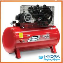 Compresor De Aire Lubricado 2 Etapas, 10 Hp Trifásico