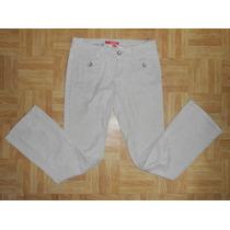 Union Bay! Jeans Beige Pana Delgada, Acampanados, Talla 3