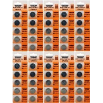 Litio Cr2032 3v Baterías 5 En Una Tarjeta (10 Tarjetas - 50