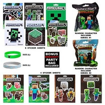 Minecraft Ultimate Gift Set-10 Hojas Mc Sticker 2 Pulseras M