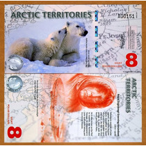 Territorios Árticos 8 Dólares 2011, Polímero. Nuevo !!