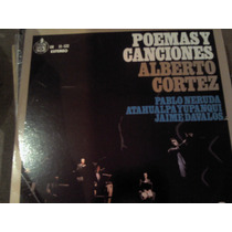 Disco Acetato De Poemas Y Canciones Alberto Cortes