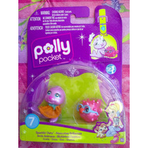 Polly Pocket Set De Mascotas Foca Y Pez Globo