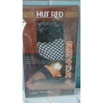Medias De Red Para Liguero Color Negro Con Encaje Sexy Lbf
