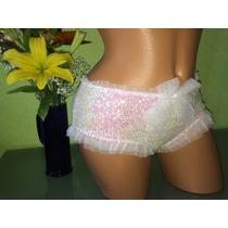 Victorias Secret Lenceria Panty Linea I Do Blanco Lentejuela