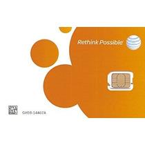 At & T Tarjeta Sim Nano (4ff) Para El Iphone 5 5c 5s 6 6 Plu