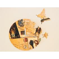 Reloj De Pared Mariposas Vintage Diseños Exclusivos