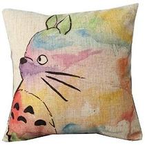 Pintado A Mano Colorido Precioso Totoro Chinchilla Throw Pil