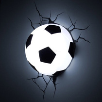 Lampara Football Para Pared 3d Pelota De Soccer Led Nueva