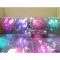 100 Esferas Navideñas Grandes De 15 Cm Con Envio Gratis Dhl